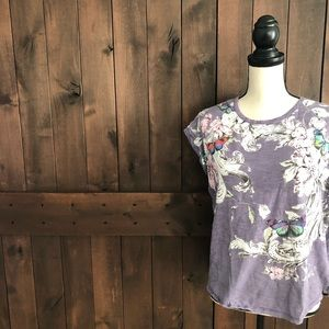 ANTHROPOLOGIE POSTMARK Butterfly Tee